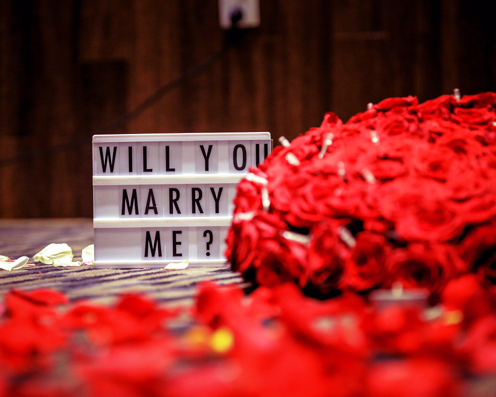 I want to pop the question